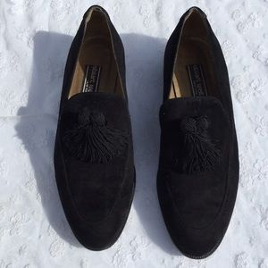 Stuart Weitzman Suede Tassel Loafers/Oxfords
